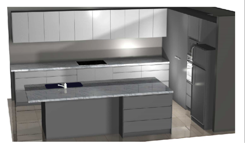 This is the Bolitho's initial kitchen design idea by our kitchen designer Ed Hough