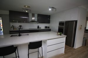 The final product, the Bolitho's new kitchen - another happy Brisbane family